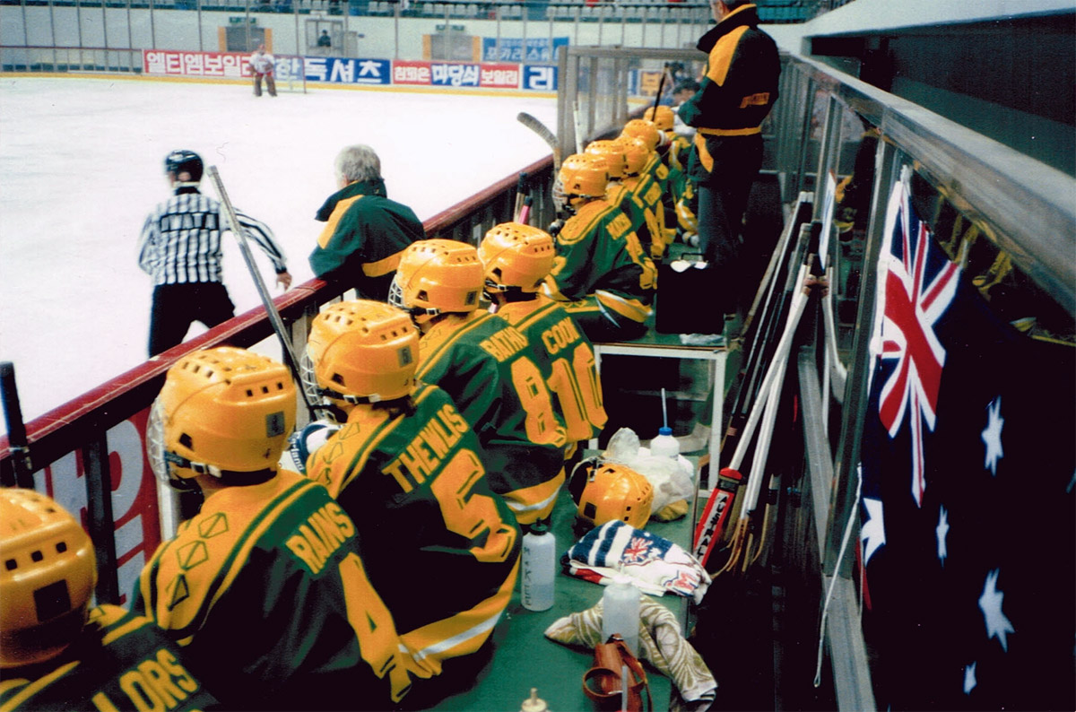 Rains Was In The Vanguard Of Local Players Who Moved Overseas To Further Their Hockey Careers